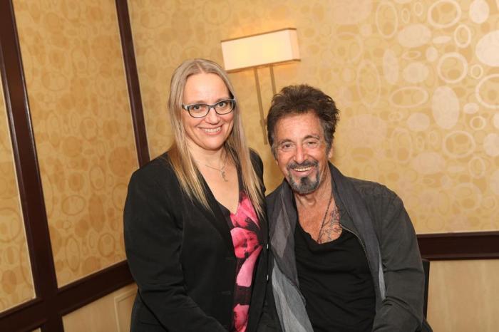 Krista with Al Pacino